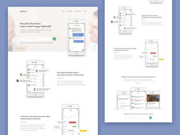Consultation App - Landing Page by Dwinawan Hariwijaya