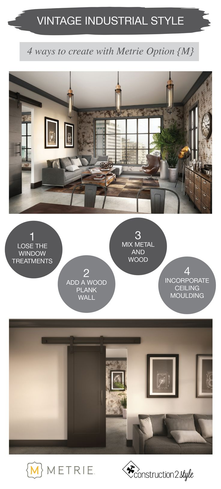 Option {M} Vintage Industrial Style | construction2style