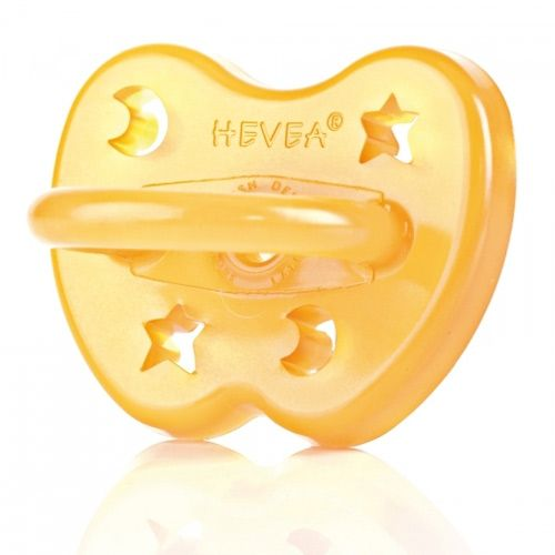 Hevea Natural Rubber Orthodontic Pacifier - 0-3m by Hevea Baby at BabyEarth.com, $9.95
