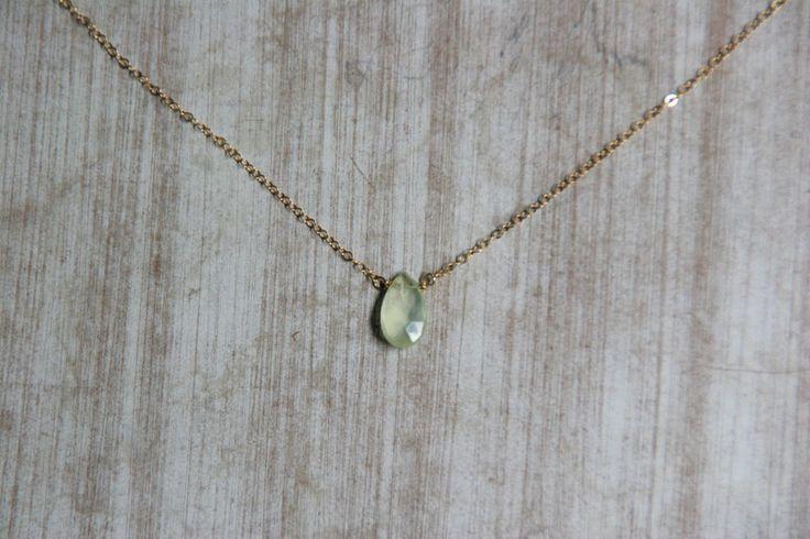 Goldketten - Goldfilled Kette, Prehnite Kette, Dezenter Schmuck - ein Designerstück von Positiva bei DaWanda
