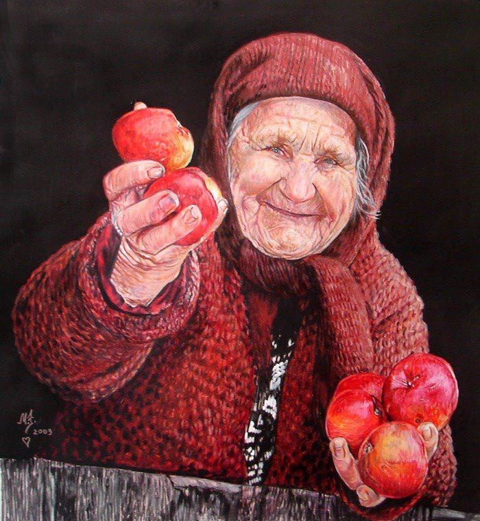 ROMANIA. This woman looks happy but I'll bet she has not had an easy life. God bless her. B.