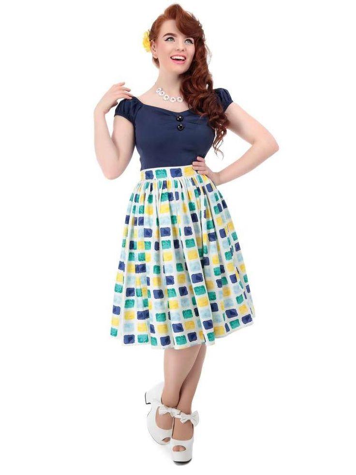 Jasmine Paint Pot Print Skirt