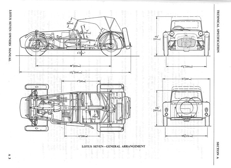 technical automobile chassis frame diagram
