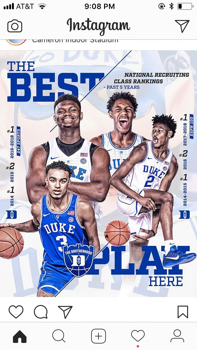 Zion Williamson, Tre Jones, RJ Barrett and Cam Reddish