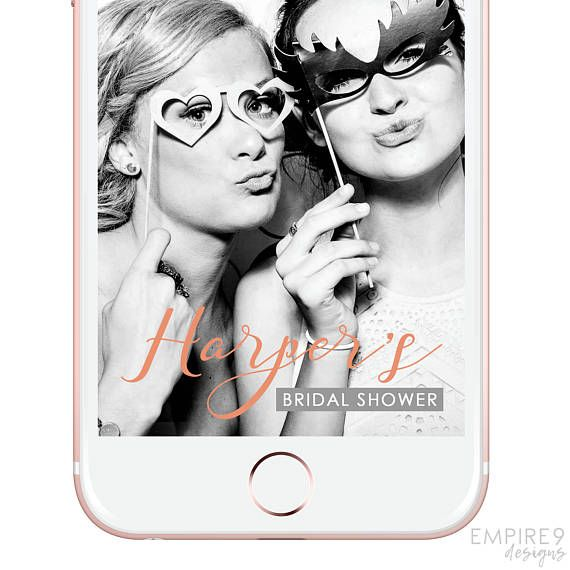 Snapchat Geofilter Bridal Shower, Bachelorette Party, Snapchat Filter Hen's Night, Custom Snapchat Geofilter, Peach, Apricot, Flowers,