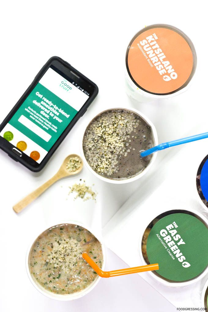 """The Good Stuff is Vancouver's first """"ready-to-blend"""" smoothie company that delivers to your door. """"Ready-to-blend"""" means recipes with whole ingredients, frozen and perfectly portioned for your blender."""