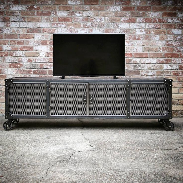 Modern Industrial Media Console - The Carnegie all steel TV stand/console