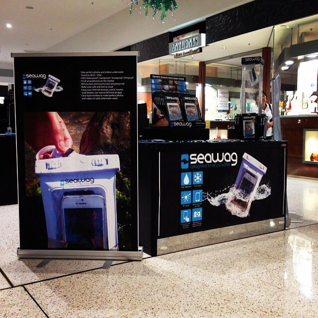 Our amazing stand at Mount Ommaney shopping centre in Brisbane Australia.. Go Team Seawag.. #getyourseawagtoday #smartdevices #waterproof #mtommaney