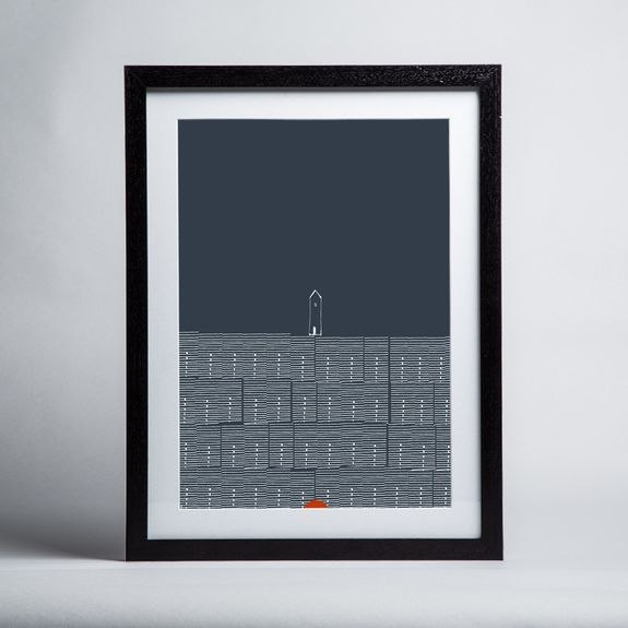 Renée Rossouw - Europe Stockholm Rowhouses - Framed print