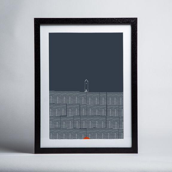 Renée Rossouw - Europe Stockholm Rowhouses - Framed print