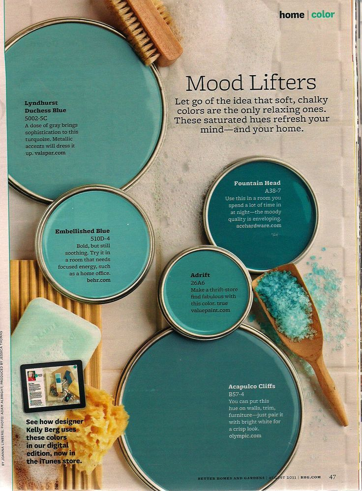 teal paint options | Painting and Wallpaper | Pinterest