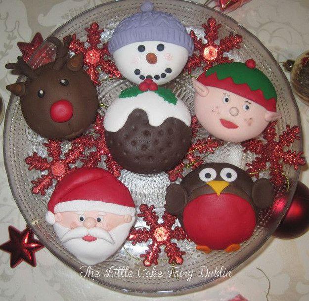 Christmas Cupcakes www.littlecakefairydublin.com www.facebook.com/littlecakefairydublin