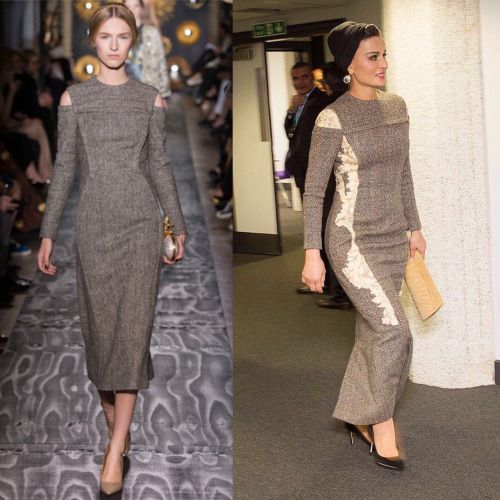 Sheikha Mozah looked stunning in grey Valentino couture dress from Fall 2013 Haute Couture collection and it was on my wish list which I made on my tumblr page in 2014. She looks so CHIC and elegant, I love the simplicity of it and perfectly framed...