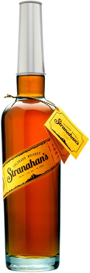 Stranahan's colorado small batch whiskey 100% malted barley whiskey spent that has spent two years in new charred oak and boasts an amber color, sweet caramel scent with a touch of coconut and juicy apple, and relatively dry flavors.