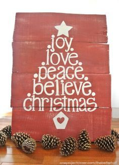 Christmas Pallet Signs | Christmas Pallet sign...would make a great card