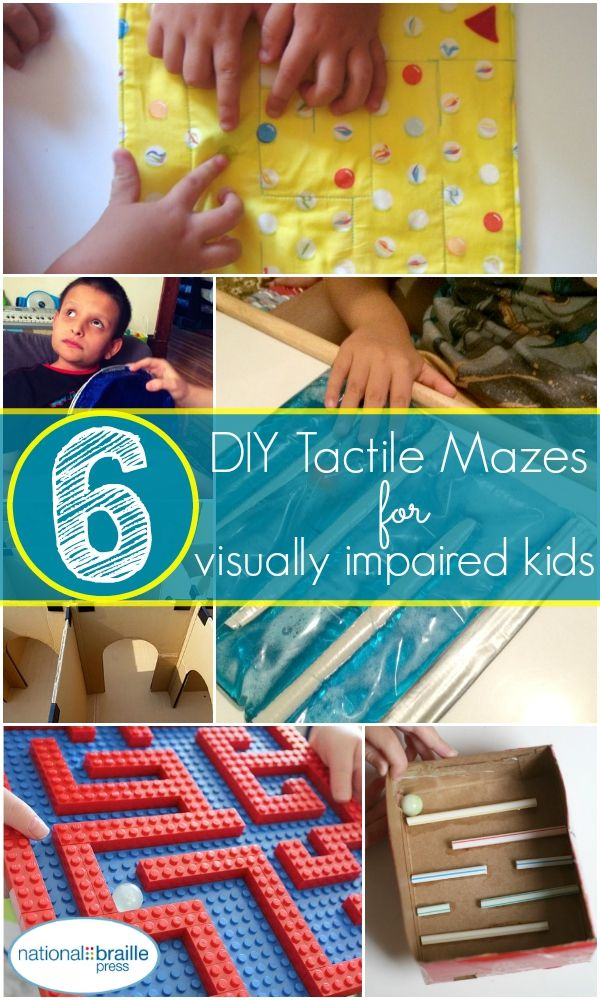 6 do-it-yourself tactile mazes you can make at home! Perfect for kids who are blind or visually impaired.