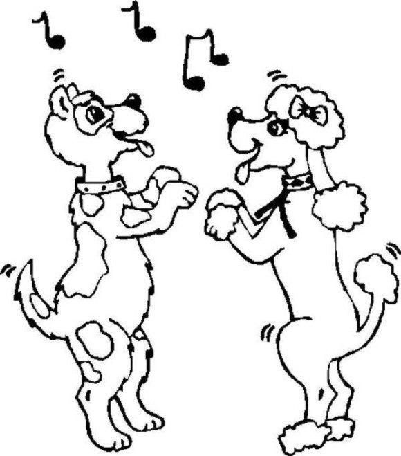 Couple Dancing Dog Coloring Pages | micy1 | Valentine ...