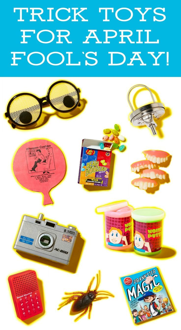 Are you ready for April 1st? Celebrate April Fool's Day with some of these classic trick toys. Both kids and adults will love them!