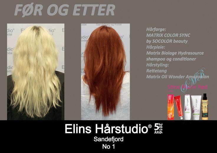 langt lyst hår til langt copper rødt hår