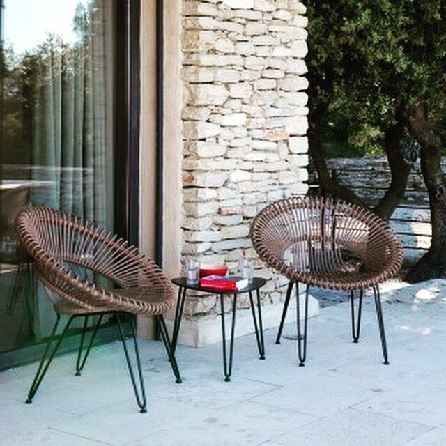 Fauteuil De Jardin En Metal Et Rotin Meubles De Jardin Design Chaise D Exterieur Meuble Jardin