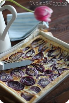 Torta salata alle cipolle di tropea