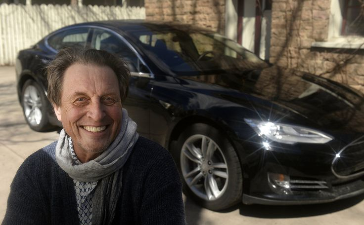 Description of . South African Errol Musk who was visiting his son Kimbal Musk in Boulder, Colorado on Friday, March 28, 2014. Musk is the  father of billionaire entrepreneur Elon Musk. In the background is a Tesla Model S. (Denver Post Photo by Cyrus McCrimmon)