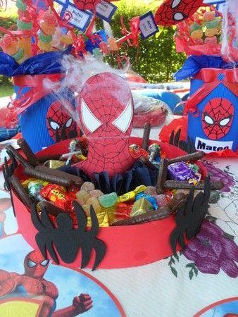 Cumplea os de spiderman y otros superh roes blog de for Mesas cumpleanos infantiles