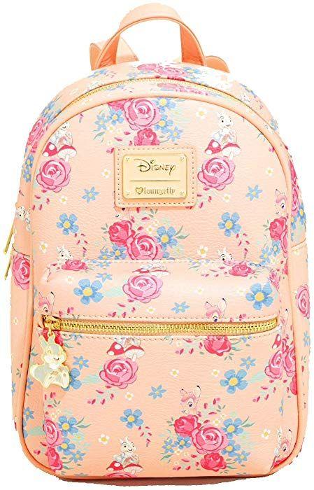 c55b716ef57 Amazon.com  Loungefly x Disney Bambi And Friends Mini Backpack  Clothing