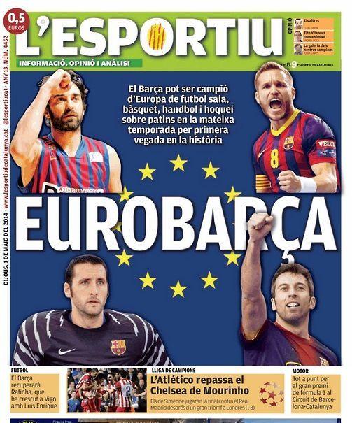 El Barça puede ser campeón de Europa en cuatro deportes diferentes - Madrid-Barcelona.com