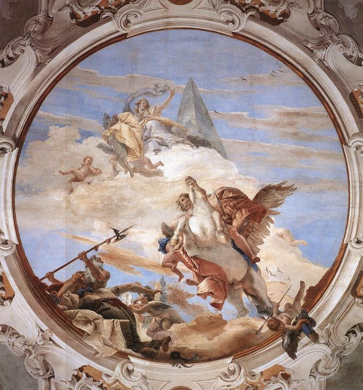 Джованни Баттиста Тьеполо. Беллерофон на Пегасе. Росписи в Палаццо Лабио (Венеция). 1746-1747 гг.