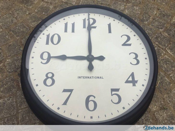 Vintage Horloge de gare environ 1950/60