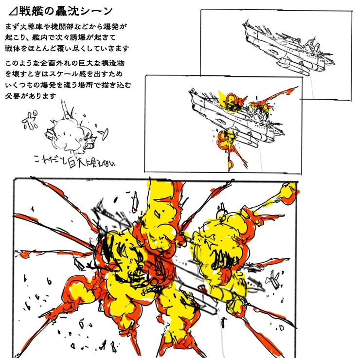 理屈に基づいた爆発の描き方まとめ [19]