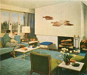 Vintage Mid Century Modern Design Book Decorating Eichler Eames Atomic 1956 Era Cant You Just See Dick VanDyke Sitting In This Living Room