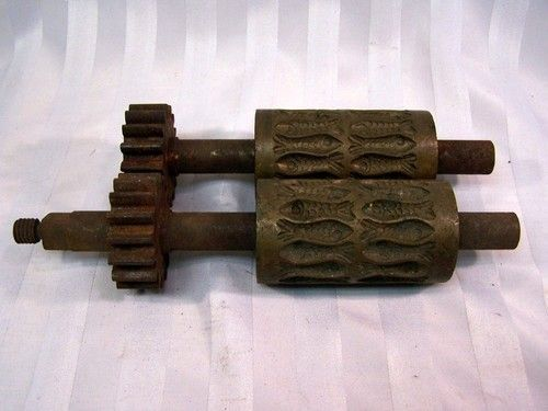 RARE ANTIQUE CAST IRON BRASS GUM DROP CANDY ROLLERS REPLACEMENT PAIR | #467794425