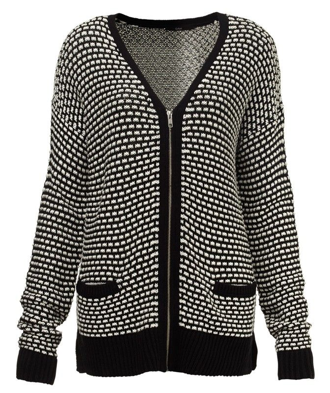 ZIP FRONT STITCH CARDI-Flash Offers-Clothing