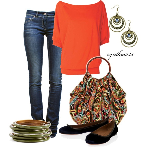 Simple and cute.  Love the bag... would be great to learn how to make my own.  from cynthia335 on Polyvore