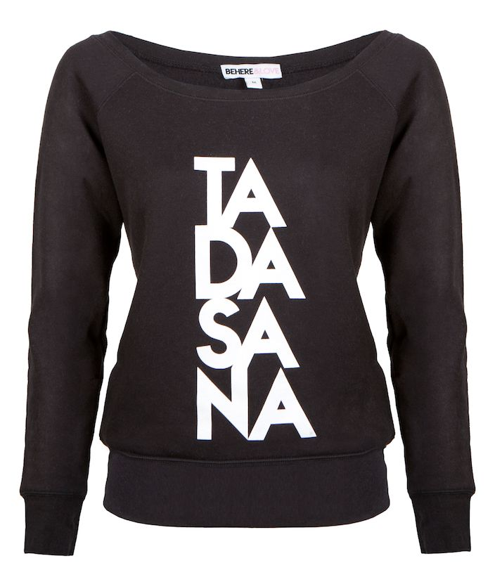 BEHERE&LOVE Tadasana Jumper: Stand strong like a mountain in this Tadasana graphic jumper, designed to be the perfect piece this season for any yogi wanting to represent the core pose of their practice.