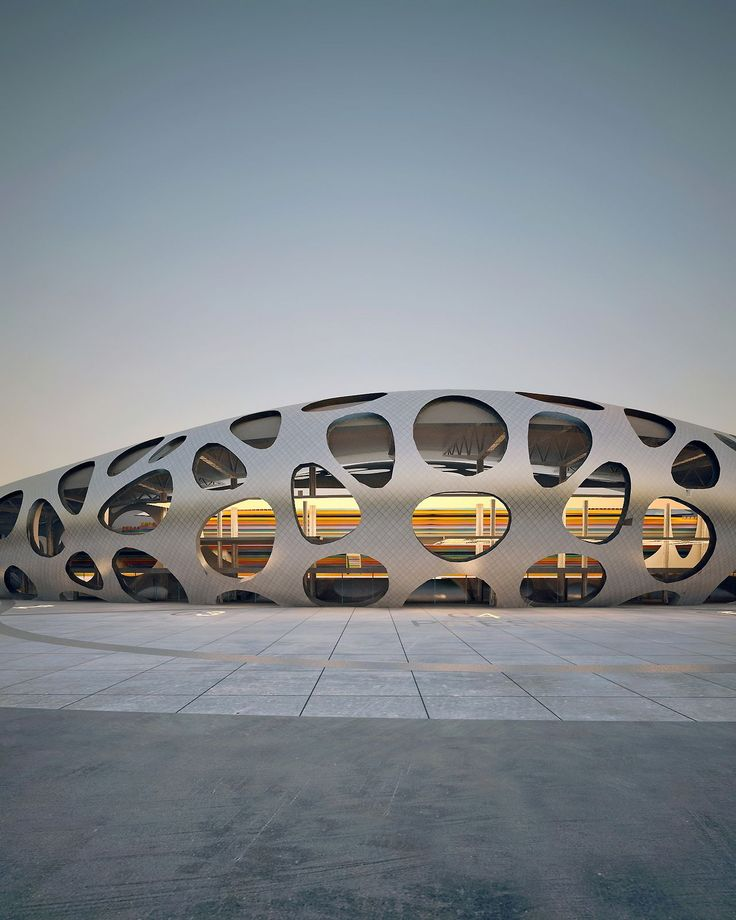 Borisov Football Stadium (In Progress)  OFIS Architects -  Borisov, Belarus #futuristicarchitecture