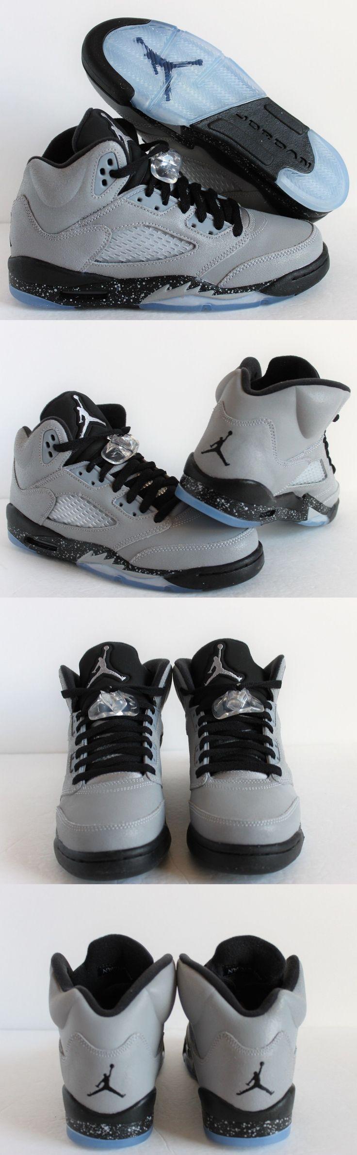 Unisex Shoes 155202: Air Jordan 5 Retro Gg Wolf Grey-Black Sz 6Y -Womens Sz 7.5 [440892-008] -> BUY IT NOW ONLY: $125.99 on eBay!