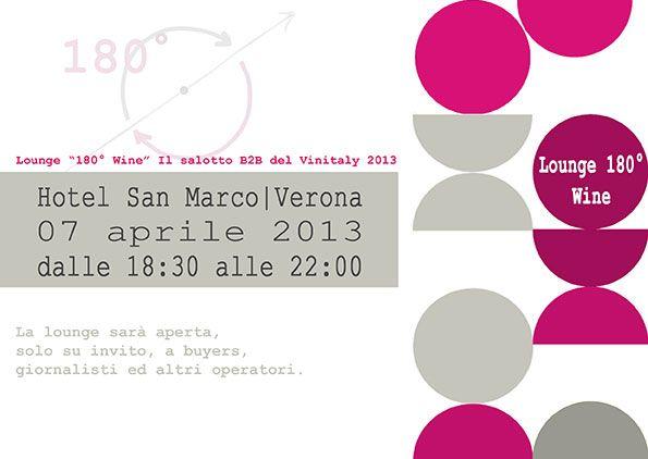 """Lounge """"180° Wine"""", il salotto B2B del Vinitaly 2013"""