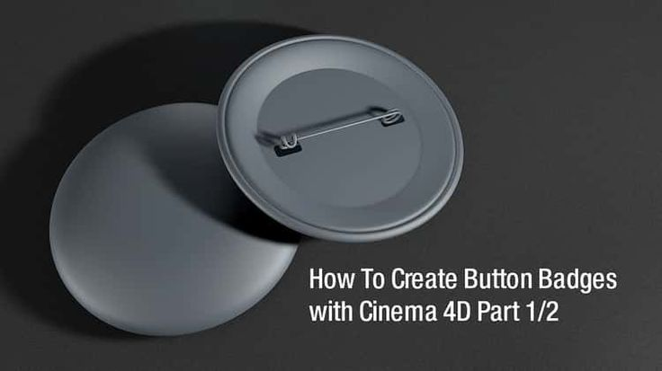 Tutorial - How To Create Button Badges With Cinema 4D Part 1/2