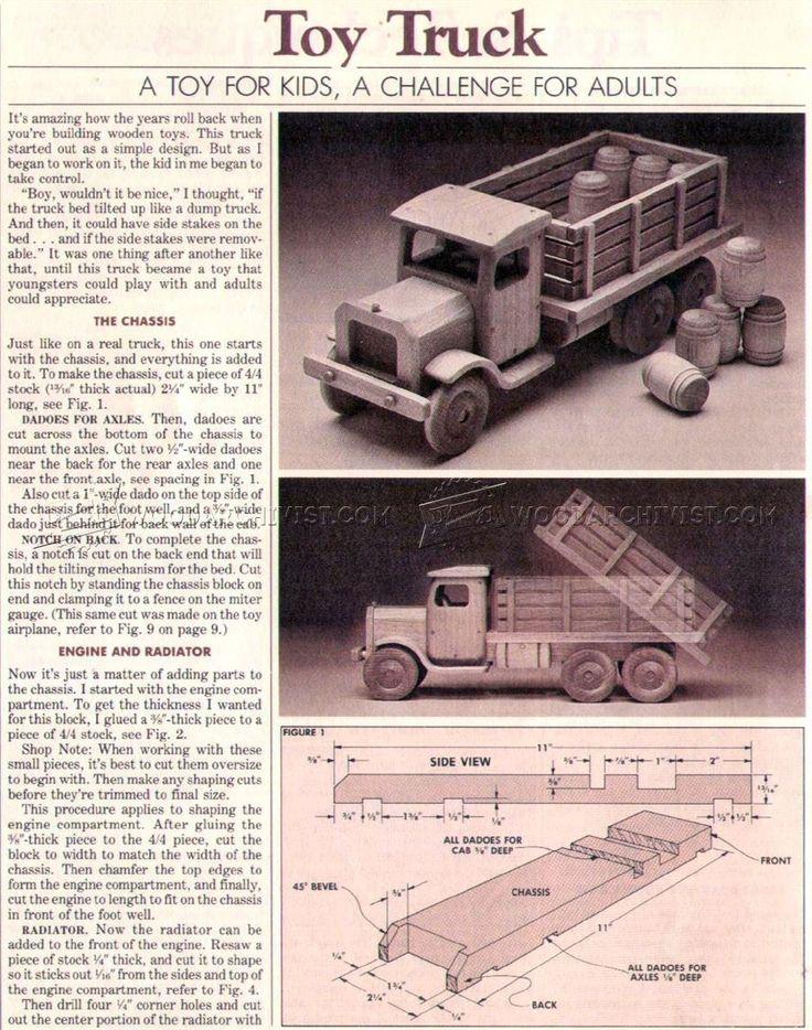 # 2779 Hölzerne Spielzeug LKW Pläne - Holz Spielzeug Pläne