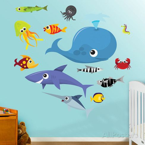 Sea Creatures 2 Wall Decal at AllPosters.com