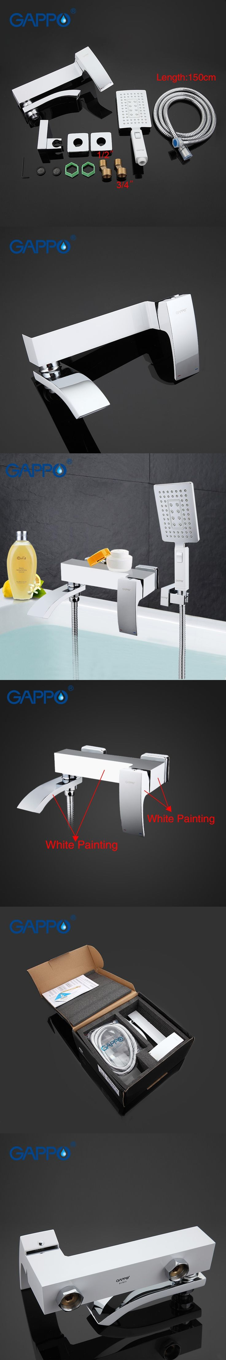 GAPPO Bathtub Faucet bathroom faucet bathroom taps wall mount Brass bathtub mixer bath mixer sink faucet waterfall faucetGA32078