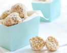 Pear & Apple Oat Balls A healthy homemade snack that contains the goodness of fruit, oats and nuts that takes no time at all to prepare.  Great for lunchboxes and kids parties. The nuts are optional, so please adhere to school policies when choosing to include them. The Thermomix version of our Pear & Apple Oat Balls …