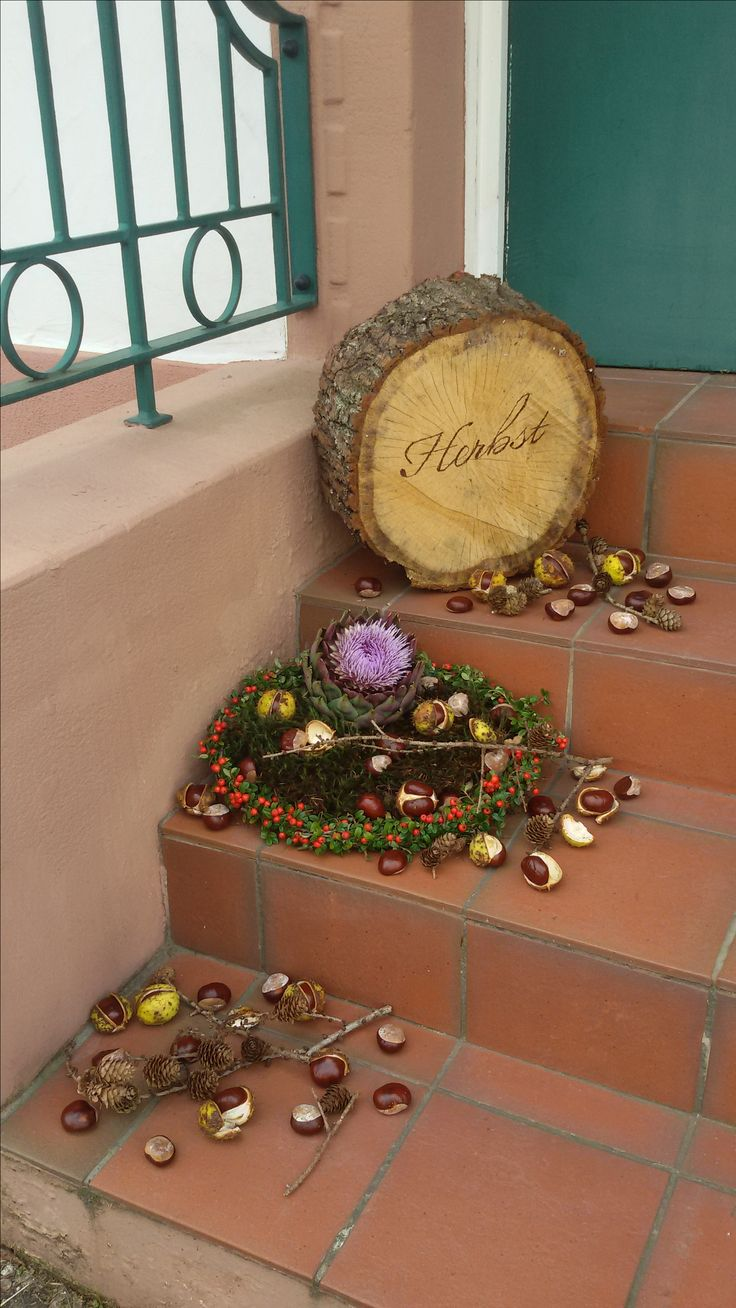 #Holzscheiben #Garten #Brandmalkolben #Herbst #Deko  Holzscheiben, mit Brandmalkolben beschriften