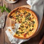 Συνταγή: Τάρτα με μανιτάρια, σπανάκι και μπέικον γαλοπούλας   Συνταγούλης
