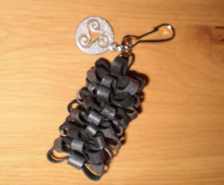sleutelhanger van rubber (fietsband)