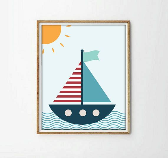 laminas infantiles lamina barco barco infantil cuadro