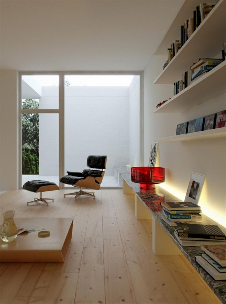 Neutral Living Area Low Level Storage Bench Rendered Minimalist Spaces By Rafael Reis Pict 4